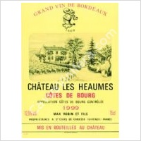 photo Chateau les Heaumes Cotes de Bourg